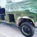 Vw t 25/ t3 doka 4 deurs ex defensie kleur :231 Moccalatte , beige cappucino (klik hier)